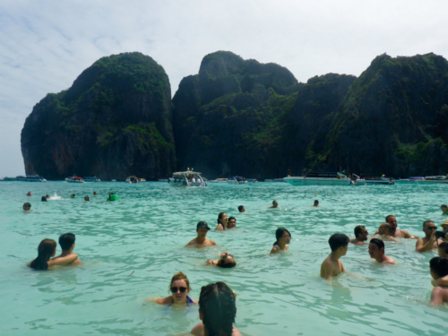 Right next to me overtourism at Maya Bay