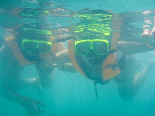 Snorkling together
